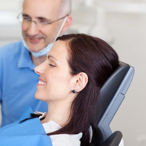 Woman In Dentists Chair